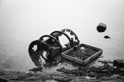 Robbert Frank HAGENS - Photography - Still life of Oil Drum & Sieve - Bretagne, France 1970