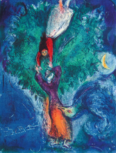 Marc CHAGALL - Estampe-Multiple - So she came down from the Tree…