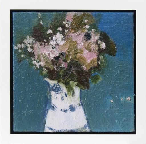 Jennifer HORNYAK - Pintura - White Jug with Blue Band