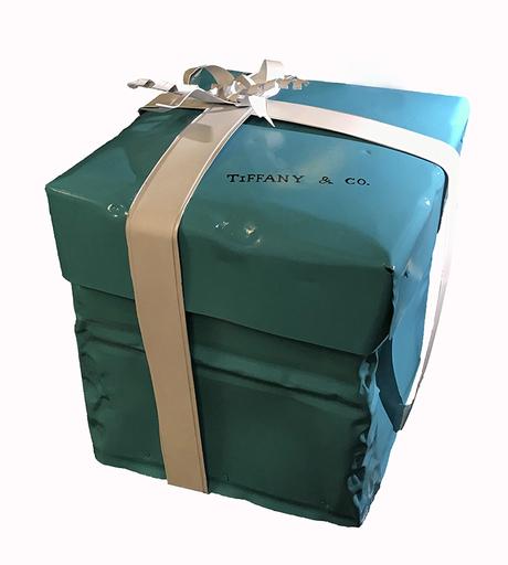 Norman GEKKO - 雕塑 - Big Crushed Tiffany Gift Box