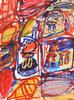 Jean DUBUFFET - Pintura - Site Avec 4 Personnages