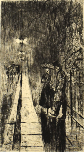 Lesser URY - Print-Multiple - Nightly Encounters in Tiergartenstrasse