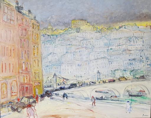 Jean FUSARO - Pintura - La colline (Croix-Rousse)