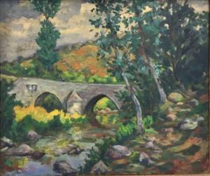 Armand II GUILLAUMIN - Gemälde - Crozant: le pont Charreau