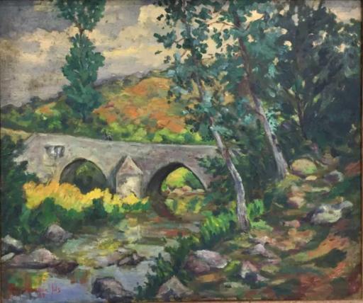 Armand II GUILLAUMIN - Pintura - Crozant: le pont Charreau