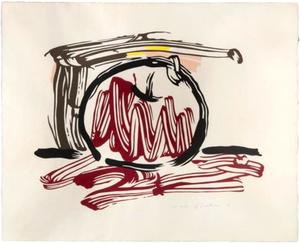 Roy LICHTENSTEIN - Stampa-Multiplo - Red Apple, from Seven Apple Woodcuts Series (C. 196)