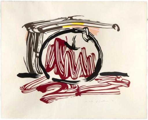 Roy LICHTENSTEIN - Stampa Multiplo - Red Apple, from Seven Apple Woodcuts Series (C. 196)