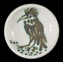Pablo PICASSO - Ceramic - oiseau a la huppe