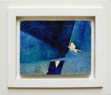Piero RUGGERI - Pintura - Paesaggio blu NF169