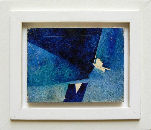 Piero RUGGERI - Painting - Paesaggio blu NF169