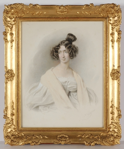 "Franz EYBL - Miniature - ""Countess Therese Palffy"", 1834, Watercolor"