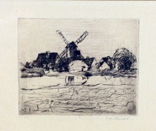 Paul Hans OHMERT - Print-Multiple - Landscape with Windmill