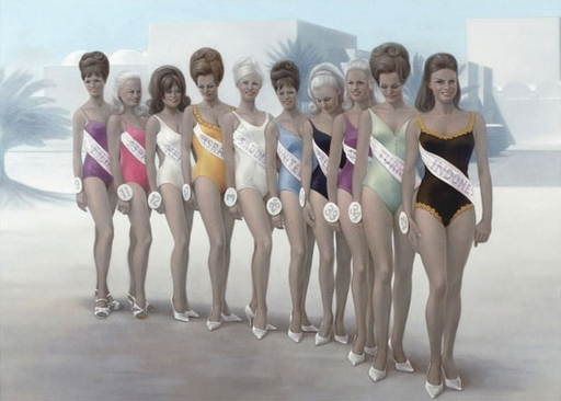 Michael VAN DEN BESSELAAR - Pintura - the pre-election of the 72 virgins
