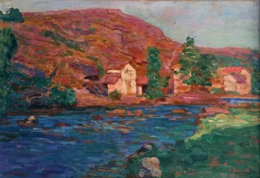 Léon R. BARDELLE - Painting - Paysage du crozant