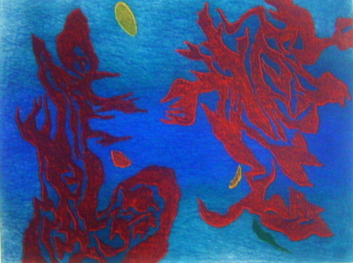 Gustave SINGIER - 版画 - Aquathème
