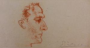 Pablo PICASSO - Grabado - Portrait of Marcel Boudin