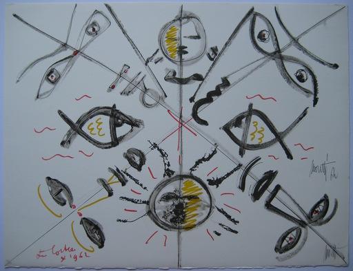 Raymond  MORETTI & Jean  COCTEAU - Print-Multiple - LITHOGRAPHIE SIGNÉE CRAYON NUM/79 HANDSIGNED NUMB LITHOGRAPH