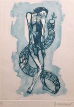 """Oswaldo GUAYASAMIN - Print-Multiple - """"La Serpiente del Paraíso"""""""