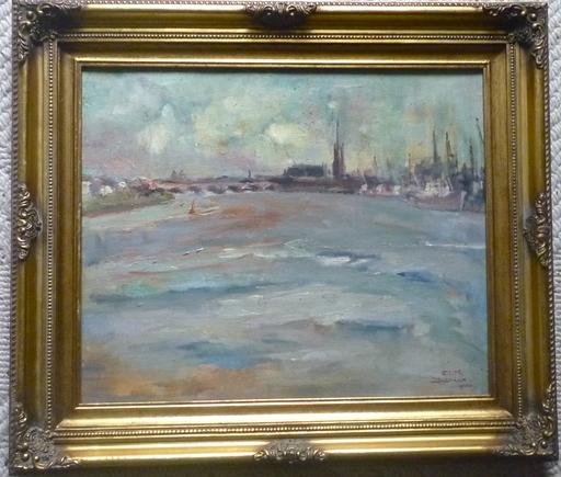 Edith DESSEAUX - Gemälde - La Garonne à Bordeaux