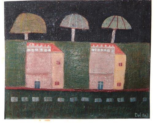 Antonio Luigi DEL SAL - Painting - LUNGOMARE DI SERA