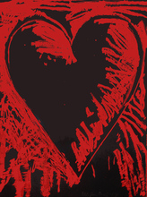 Jim DINE (1935) - THE BLACK AND RED HEART