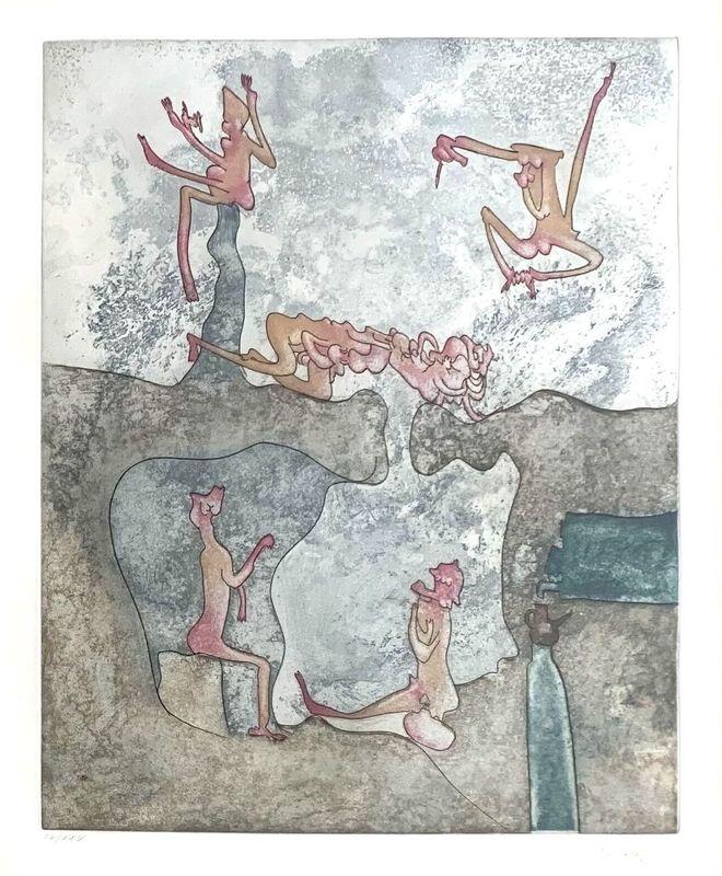 """Roberto MATTA - Stampa Multiplo - Untitled (from """"Così fan tutte"""" portfolio) #2"""
