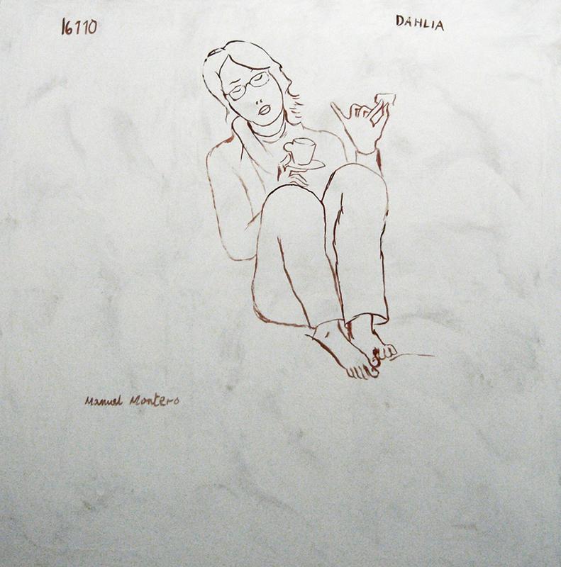Manuel MONTERO - Peinture - Dahlia