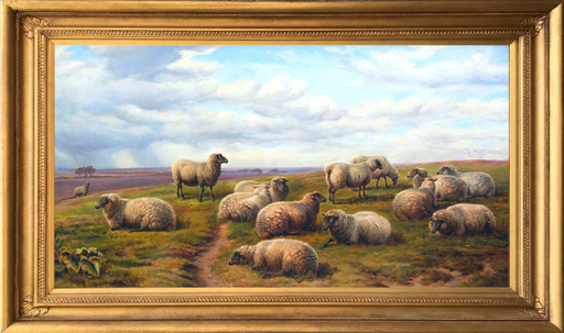 Charles JONES - Pittura - Sheep Resting