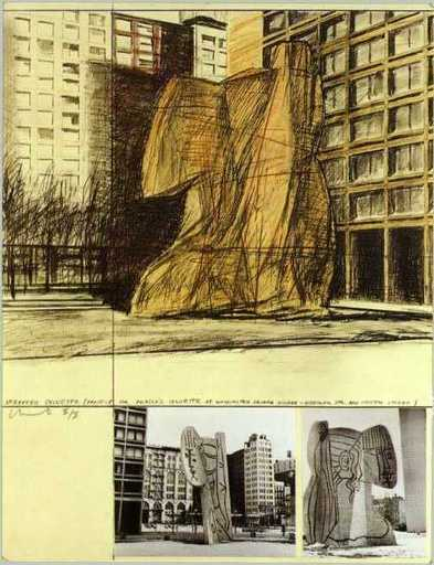 CHRISTO - Grabado - Wrapped Sylvette, Project for Washington Square Village