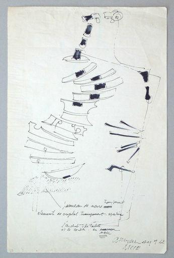 Fernandez ARMAN - Dibujo Acuarela - Untitled