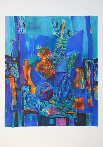 Tony AGOSTINI - Druckgrafik-Multiple - Nature morte aux fruits