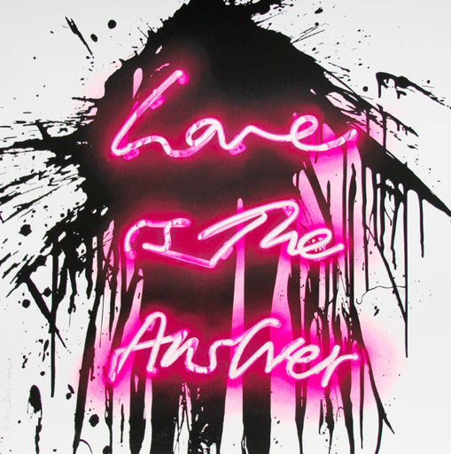 MR BRAINWASH - Grabado - Love On