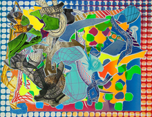 Frank STELLA - Estampe-Multiple -  East Euralia, from: Imaginary Places