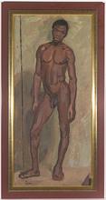 """Benny COHN - Pintura - """"Nude African Boy"""" by Benny Cohn, 1920s"""