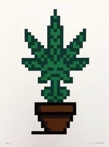 INVADER - Print-Multiple - Hollyweed (Brown Pot)