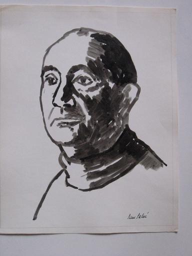 Pierre PALUÉ - Dessin-Aquarelle - PORTRAIT DE MARCEL SAUVAGE