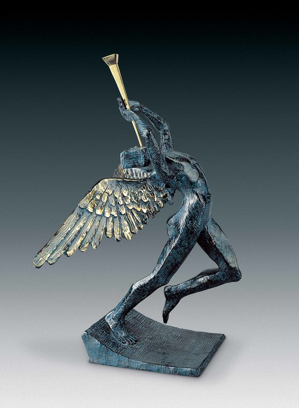 Salvador DALI - Sculpture-Volume - Triumphant Angel, Ange surréaliste