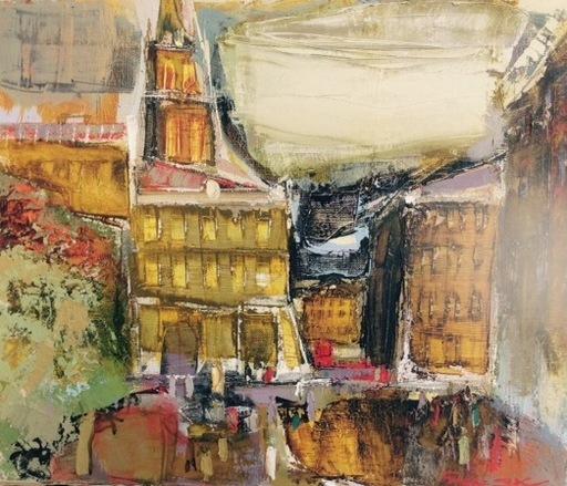 Borys BURYAK - Peinture - Ambiance de ville (Lviv)