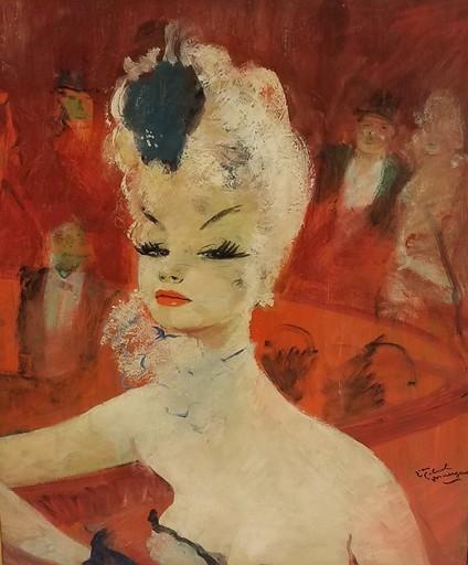 Jean Gabriel DOMERGUE - Peinture - La loge à l'Opéra