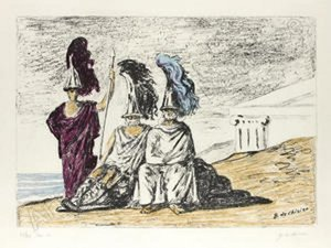 Giorgio DE CHIRICO - Print-Multiple - The warriors return from troy