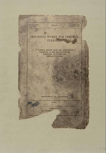 Ronald Brooks KITAJ - Print-Multiple - Importing Women for Immoral Purposes