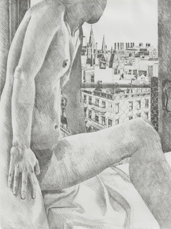Philip PEARLSTEIN - Stampa Multiplo - untitled (Nude and Cityscape)