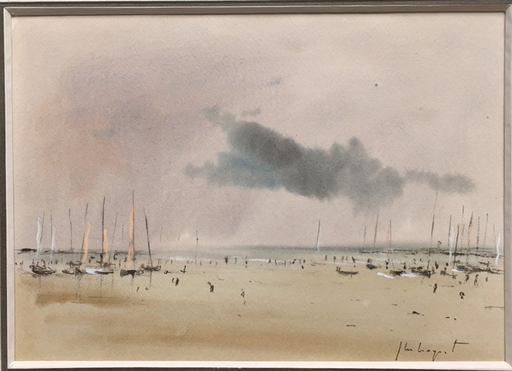 Jean-Michel NOQUET - Drawing-Watercolor - Bord de mer