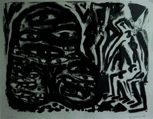 A.R. PENCK - Print-Multiple - Ein Monster erscheint