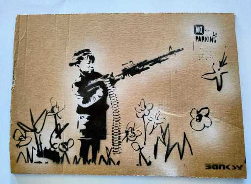 班克斯 - 版画 - Art Soldier Man Banksy
