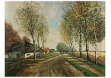 Jean VAN DONGEN (1883-1970) - Landstraße mit Bauernkaten