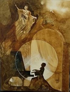 Roger SURAUD - Gemälde - Le chant dUlysse