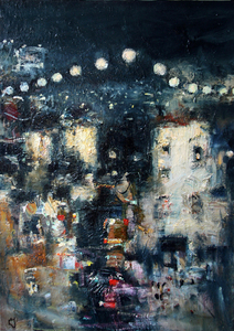 Levan URUSHADZE - Painting - Night city # 3