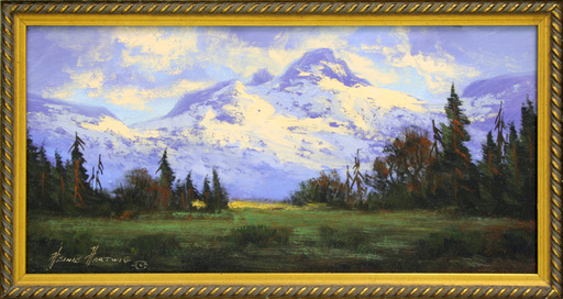 Heinie HARTWIG - Pintura - Mountains of the North