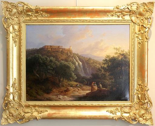 Domenico BRESOLIN - Pintura -  Veduta delle cascatelle a Tivoli